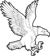 Printable Bald Eagle Coloring Page For Kids