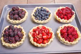 Blueberry Tayberry & Strawberry Rhubarb mini Pies