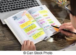 bureau en gros agenda écriture personne affaires agenda horaire gros plan images