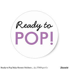 Baby Shower Logo by Ready To Pop Modern Baby Shower Stickers In Black White And