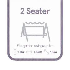 2 Seater Garden Swing Cover Premium Range PVC Backed Polyester Grey