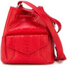 Yliana Yepez Mini Bucket Bag 1870 Liked On Polyvore Featuring Bags Handbags Red PursesSnake PrintBucket BagsPythonSnakesShoulder