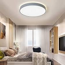 deckenleuchte led dimmbar rund grau 60w deckenle 60cm moderne für küche schlafzimmer büro wohnzimmer esszimmer arbeitszimmer len