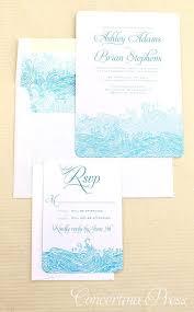Aquarium Themed Wedding Invitations