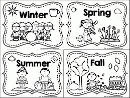 Fall Season Coloring Page Autumn Pages Leaves For Kids Seasons Four Full Size