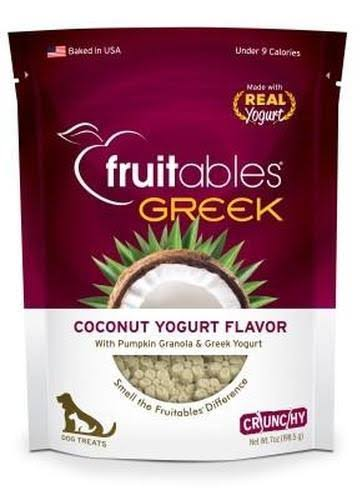 Fruitables Greek Crunchy Dog Treats - Coconut Yogurt