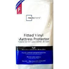 mainstays fitted vinyl mattress protector twin walmart com