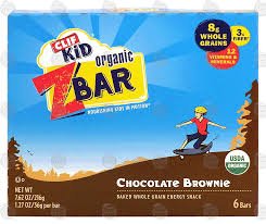 Clif Kid Z Bar Organic Chocolate Brownie Baked Whole Grain Energy Snack 6 Bars