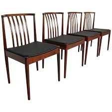 Set Of Four Casala Solid Rosewood Dining Room Chairs 1960s