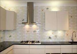 small white subway tile backsplash