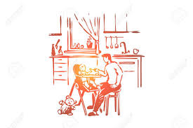 Man Feeding Child, Parent Holding Spoon, Toddler Sitting In High.. Farlin Baby High Chair Cum Feeding Yellow Joie Mimzy Onehand Quick Buzz Safety 1st Wood Beaumont Walmartcom Used Hauck Sit N Relax 2 In 1 Highchair Amazoncom Qaryyq Outdoor Portable Folding Fishing Infant Toddler Booster Seat Length 495cm Width 635cm Height 96cm Bloom Fresco Chrome White Frame With Blue Pad Bhao Brother Max Sketch Baby High Chair Booster Seat Mat Kilbirnie North Ayrshire Gumtree Plymouth Devon 178365 Walker Ride Infant Highchair Design