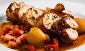 lapin cuisiné le lapin aux lardons et ses pommes de terre menudumarche