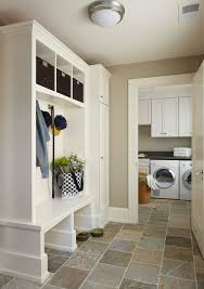Rustic Laundry Room Decor Traditional With Ceiling Lighting Storage Cubbies