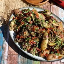 Lentil And Fingerling Potato Salad W Warm Bacon Dressing