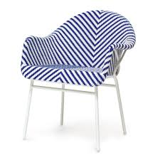 blue and white garden arm chair mecox gardens