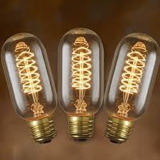 3 pack edison bulbs vintage spiral filament t14 tubular