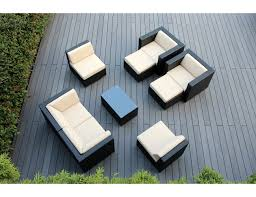 Patio Conversation Sets Canada by Amazon Com Ohana 9 Piece Outdoor Wicker Patio Furniture