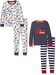 Fire Engine Pyjamas - 2 Pack, Blue , 9-12 Months (Manufacturer Size ...