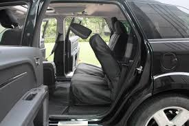 Oxgord Trim 4 Fit Floor Mats by Suv Van Truck 21pc Set Gray Black Faux Leather Car Seat Cover W