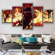 leinwand poster wohnzimmer decor rahmen 5 stück alucard anime hellsing malerei modulare wand hd druckt bilder