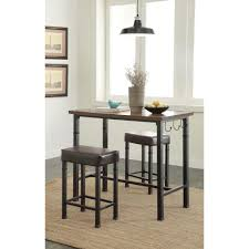 Linon Home Decor Austin 3 Piece Rustin Brown Bar Table Set ...