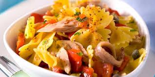 salade de pâtes au poivron et au thon facile et pas cher