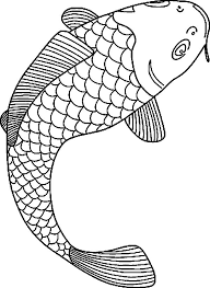 Fish Coloring Pages Koi