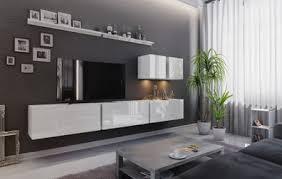 wohnwand polare wohnzimmer schrankwand tv schrank anbauwand hochglanz tv möbel set