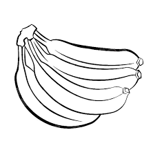 Picture Of Banana Bunch Coloring Pages