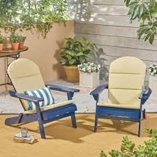 Noble House Malibu Navy Blue Folding Wood Adirondack Chairs ...