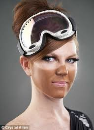 Tanning Bed Goggles by Want To Pretend You Had A Holiday Skiing Just Wear Ski Goggles