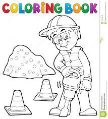 Travailleur De La Construction 3 De Livre De Coloriage Illustration