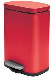 spirella kosmetikeimer 5 liter edelstahl mit absenkautomatik und inneneimer badezimmer mülleimer softclose abfalleimer rot