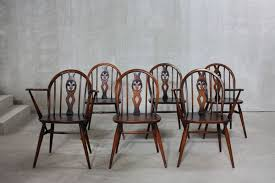 371 371A Windsor Dining Chairs By Lucian Ercolani For Ercol 1960s Set Of