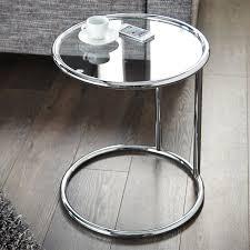 runder beistelltisch galano ø40cm mit glasplatte design