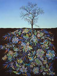 Gorgeous Paintings Of Tree Roots Filled With Colorful Detail