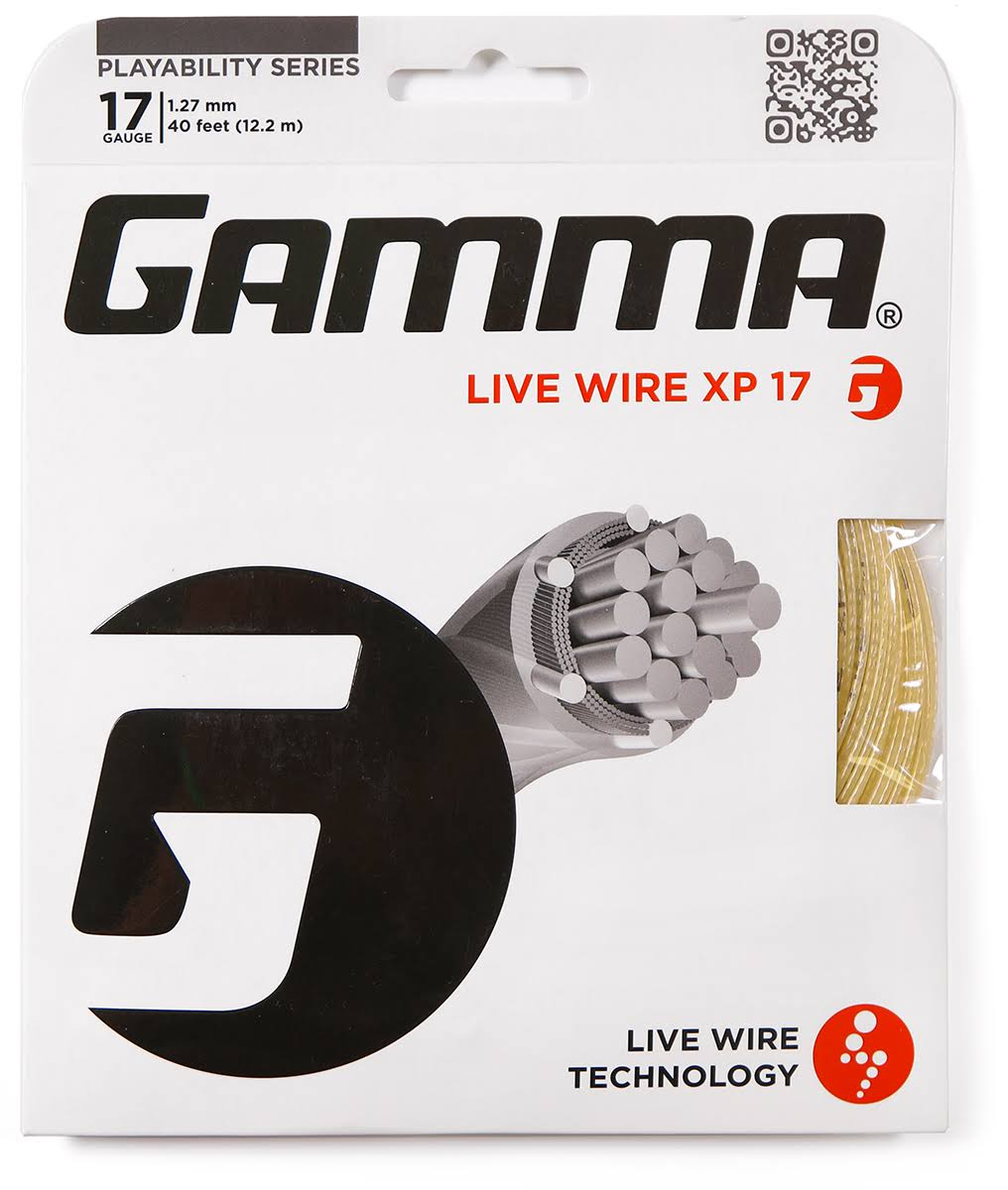 Gamma Live Wire XP Tennis String - Natural, 17 Gauge