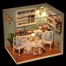 Robotime Exquisite DIY House Miniature Dollhouse Kits Kitchen Room