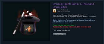 Halloween Spells Tf2 Market by First Unusualifier On The Market Tf2