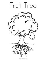 Brilliant Ideas Of Tree With Fruit Coloring Page For Your Description