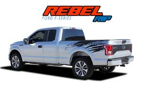 100 Ford Truck Decals REBEL RIP F150 Stripes F150 Bed F150 Graphics
