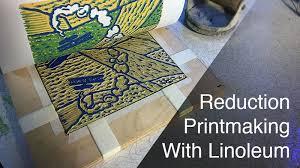 Reduction Printmaking With Linoleum