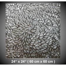 acrylbild abstrakt silber metallic strukturiertes