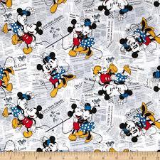 Vintage Mickey Bathroom Decor by Disney Mickey Vintage Mickey U0026 Minnie All Over The News White From