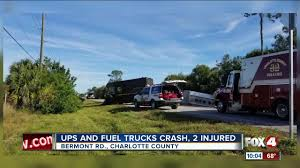 100 Ups Truck Accident UPS Driver Hurt In Charlotte County Crash