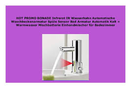 heimwerker automatisch wasserhahn bad armatur infrarot
