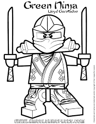 Green Ninjago Coloring Pages Lloyd Garmadon