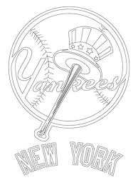 Click To See Printable Version Of New York Yankees Logo Coloring Page