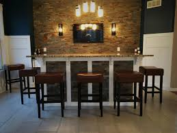 This Avon Homeowner Wanted To Utilize His Dining Room Space So We Worked Create A Focal Point Of The With Bar Top Seating For 5 And Mounted TV