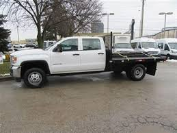 Used 2015 GMC Sierra 3500 HD Crewcab 4x4 Gas Dually 9 Ft Flat Deck ...